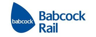 Babcock Rail logo in blue with text
