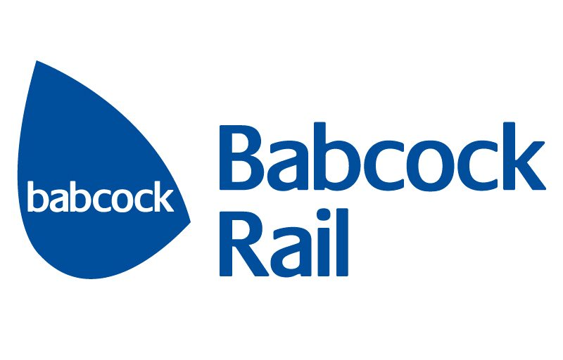 Babcock Rail logo, blue with text