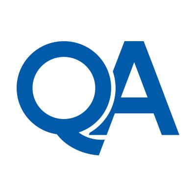 QA logo in blue